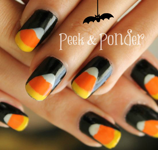How To Candy Corn Nails