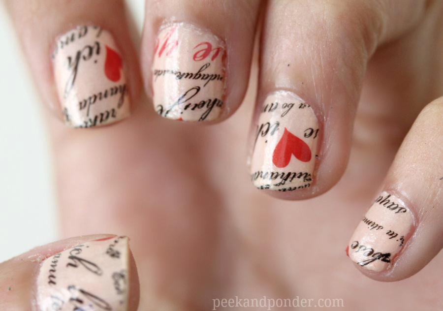 picture Original DIY Heart Nail Art For A Valentine's Day