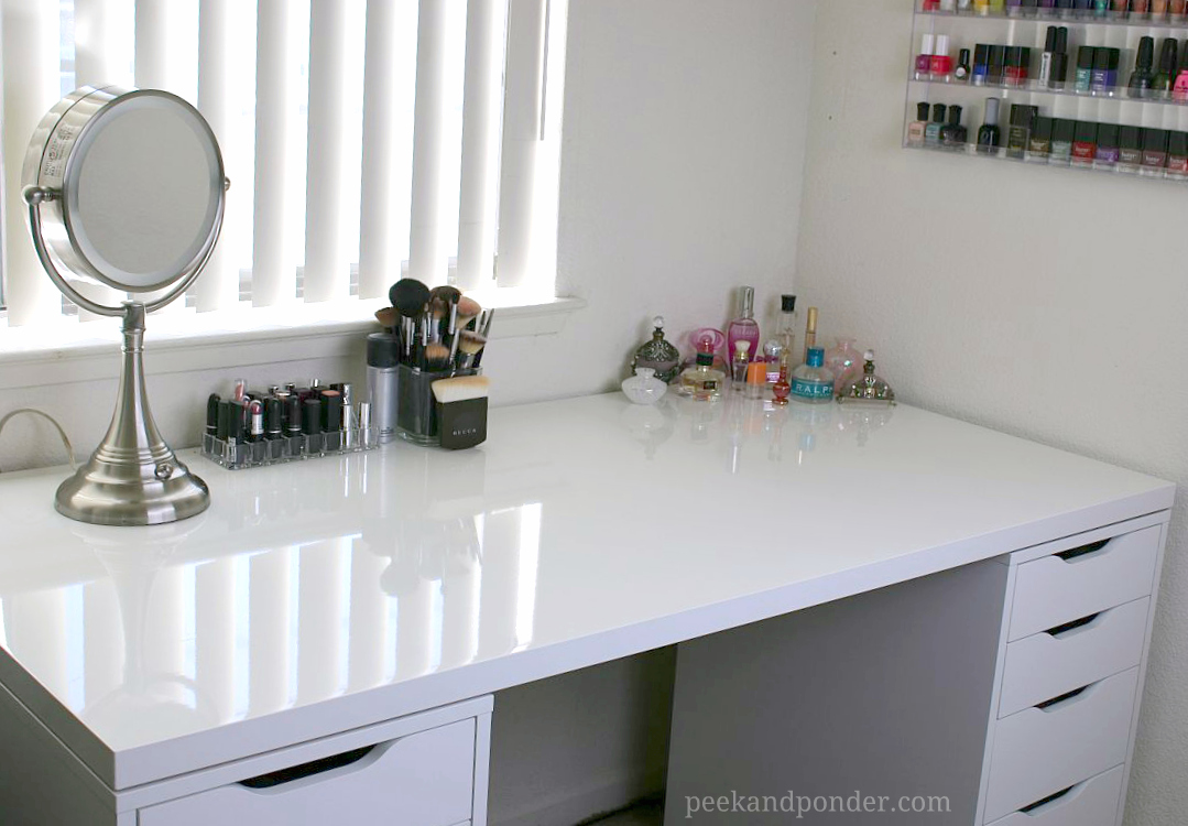 - My New IKEA Makeup Vanity, DIY Style! Peek & Ponder