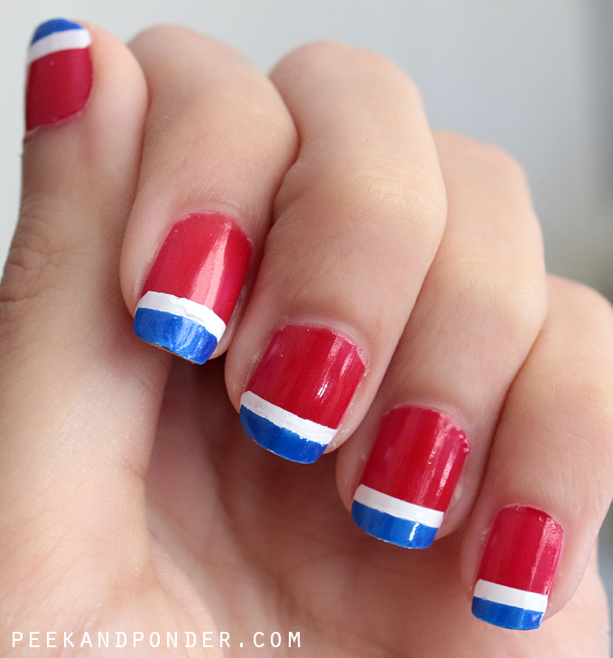 red white and blue nail art photographs supplied by members of the NAILS Magazine Nail Art Gallery.