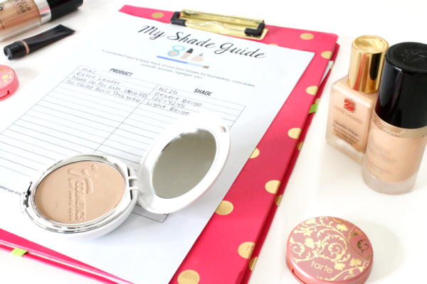Keep Track of Makeup Shades with Printable Worksheets!